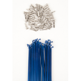 Dk Double Butted Spokes 191 - Blue