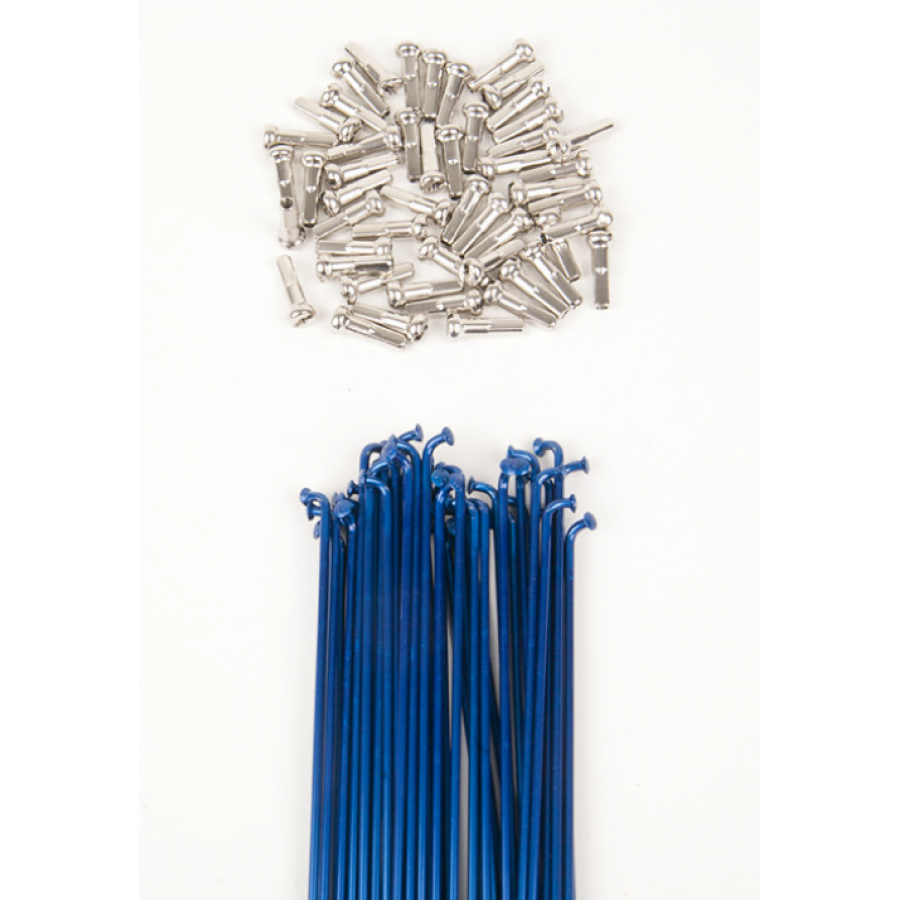 Dk Double Butted Spokes 186 - Blue