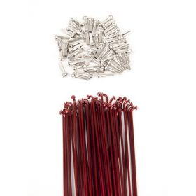 Dk Double Butted Spokes 191 - Red