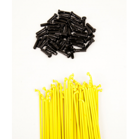 Dk Double Butted Spokes 186 - Yellow
