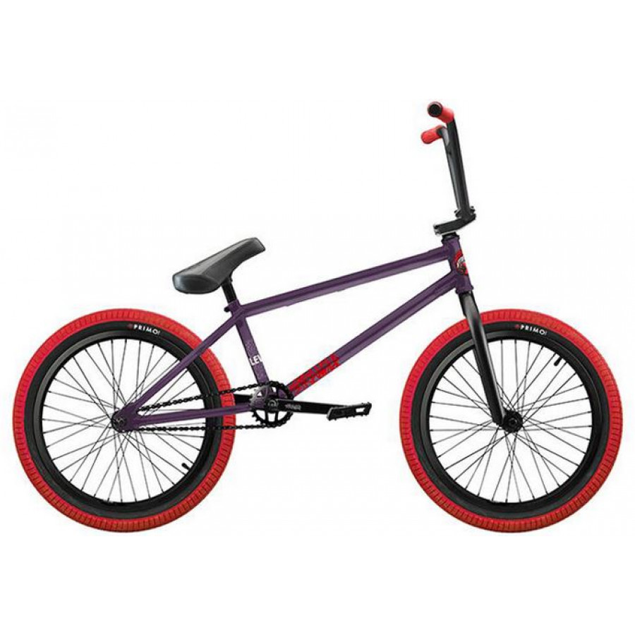 Stranger Level FC Complete Bike - Matte Purple /Red
