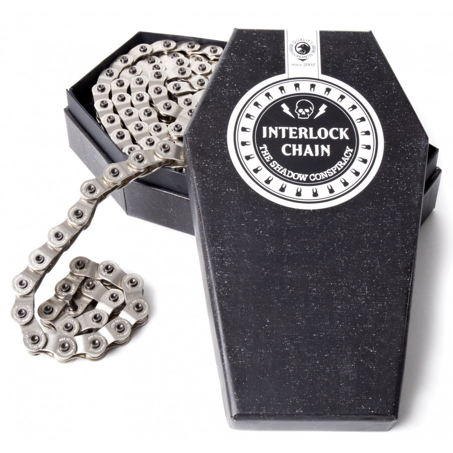 Shadow Interlock Chain V2 - Silver