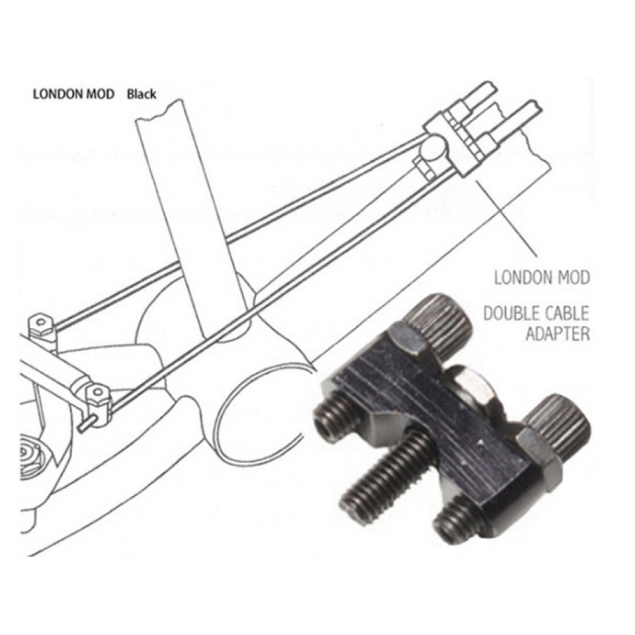 Odyssey London Mod Cable Adapter Double Brake Cable Adapter NEW
