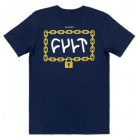 Cult Throw Away The Key Tee Large - Navy Blue