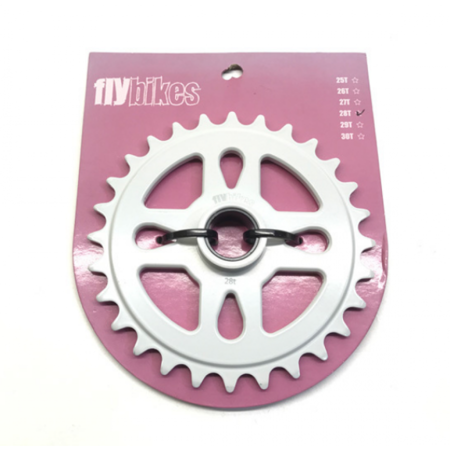 Fly Spacer Sprocket 28t - White