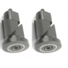 Hoffman Alloy Bar Ends - GREY ONLY