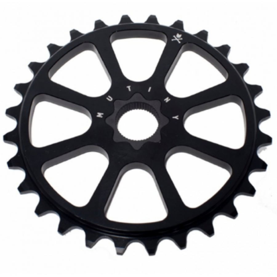 Mutiny Octad Sprocket 19mm Spline Drive - Black