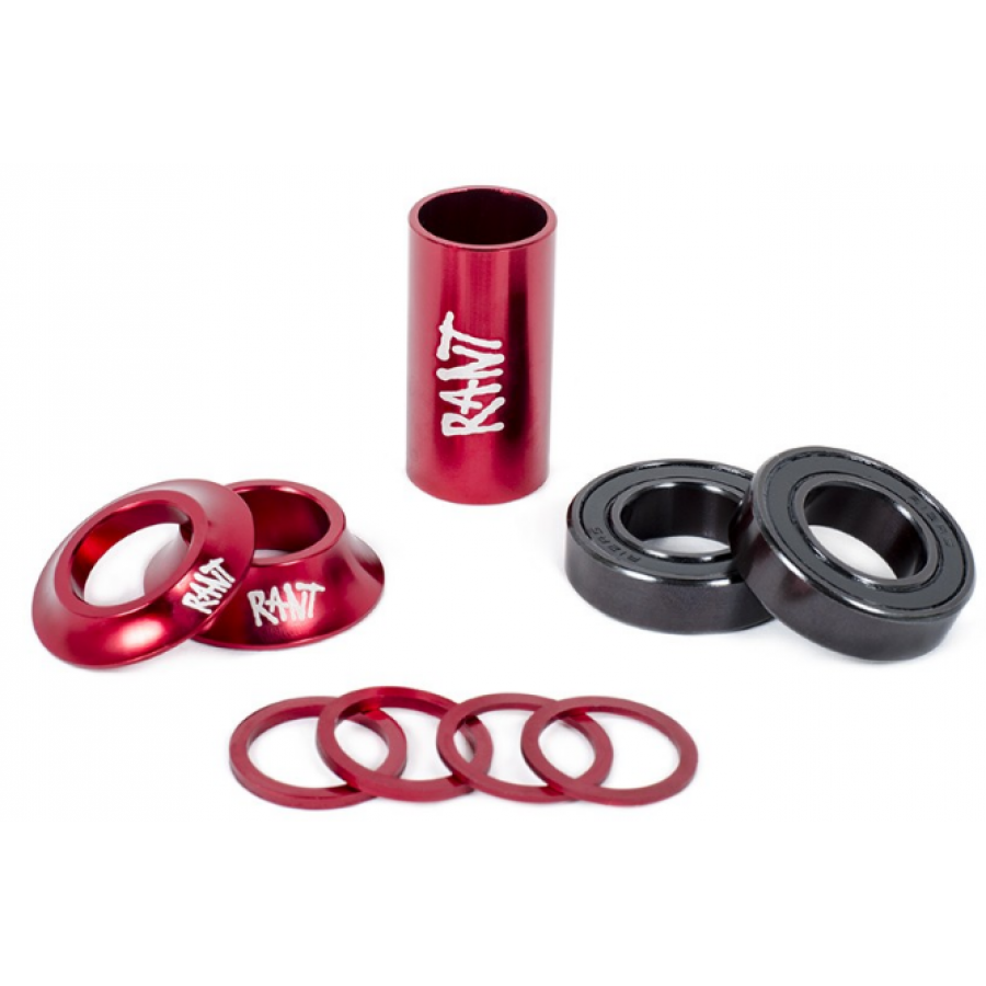 "Rant ""19mm"" Bang Ur Mid Bottom Bracket Kit - Red"