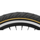 "Shadow 2.30"" Strada Nuova Low Pressure Tire - Black with Gold Line White Wall"