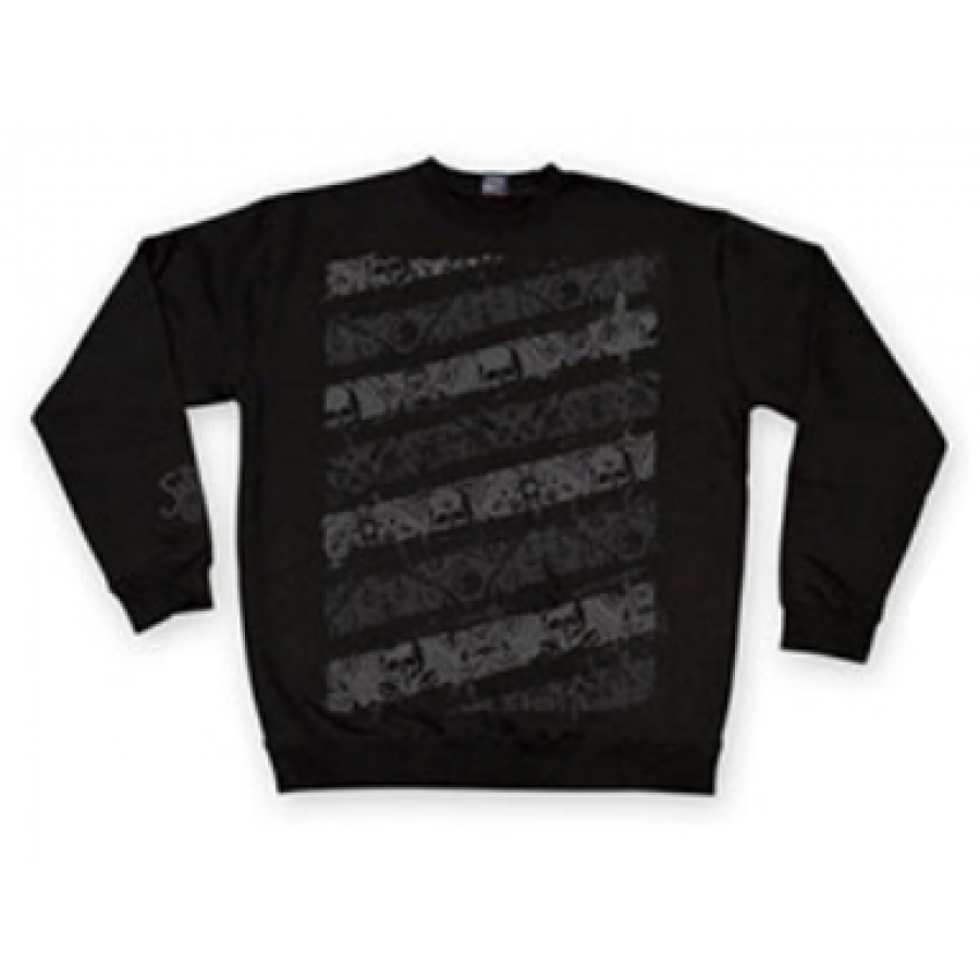 Shadow Stripes Sweater Small - Black/ Grey