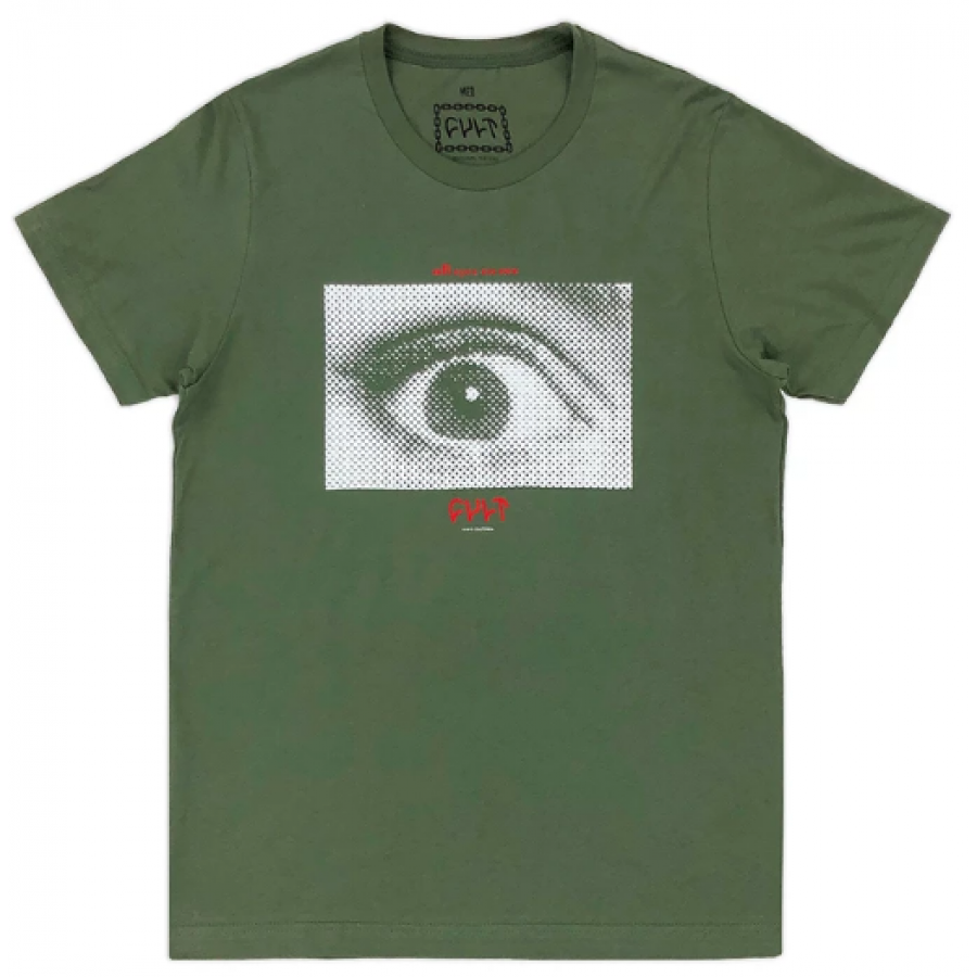 Cult All Eyes Tee Large - Green