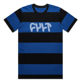 Cult Wide Stripe Tee Large - Blue