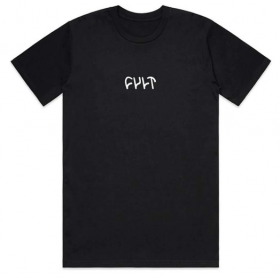 Cult Embroidered Logo Tee XXL - Black
