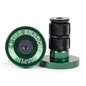 Shadow Deadbolt Bar Ends - British Racing Green